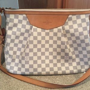 Handbags - Louis Vuitton damier azur siracusa shoulder bag.